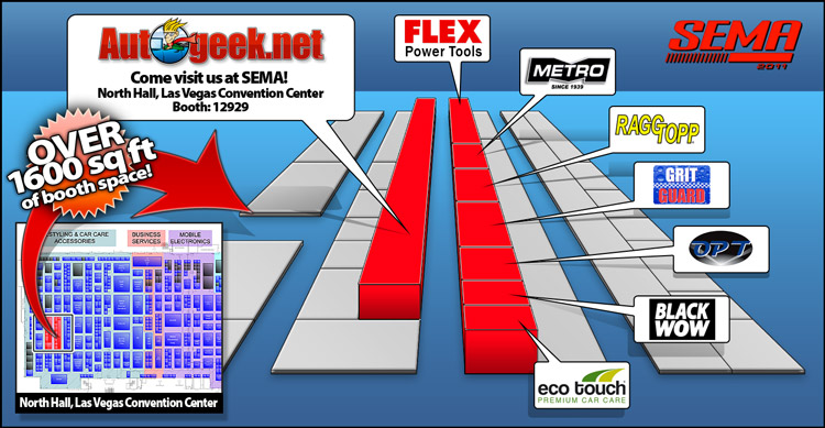 Visit Autogeek.net at the SEMA 2011 Show in Las Vegas