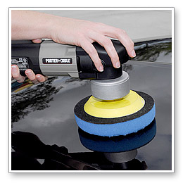 Set your dual action polisher to a maximum speed of 3.