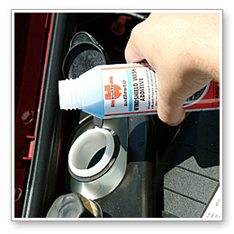 Wurth Windshield Wash Additive serves the same purpose, but it has antifreeze protection already added to the formula.