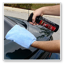 Use a clean microfiber detailing towel to wipe off product, even if you can�t see residue. Complete one section before moving on to the next.