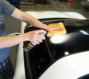 Detailer's Pro Series DP Plex-All cleans and polishes headlights.