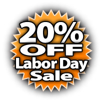 20% Off Labor Day Sale!